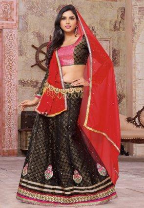 Diffusion Dazzling Diva Black Lehenga Choli