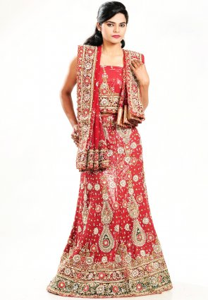 Diffusion Dazzling Diva Salsa Red Chaniya Choli