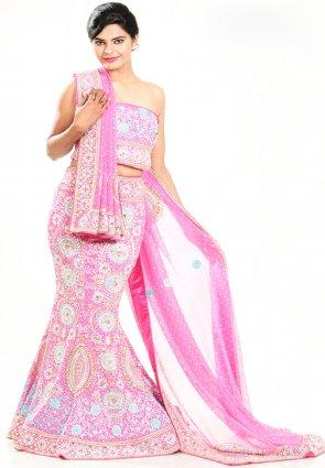 Diffusion Divine Rose Pink Chaniya Choli