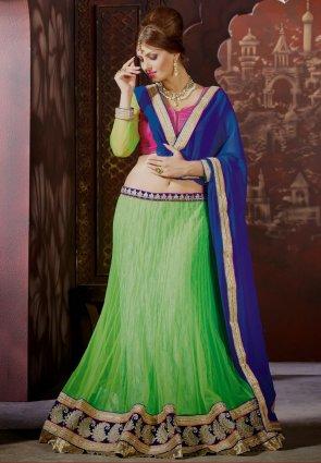 Diffusion Elegant Lime Green Lehenga Choli