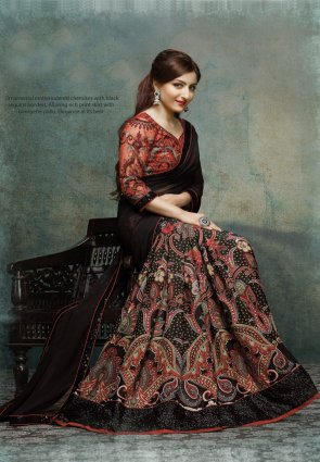 Diffusion Exotic Black Embroidered Saree