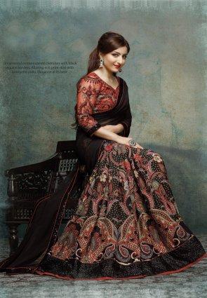Diffusion Exotic Black Embroidered Saree