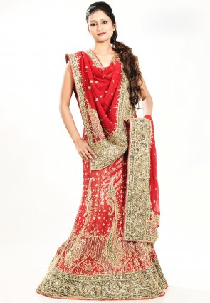 Diffusion Exotic Coral Chaniya Choli