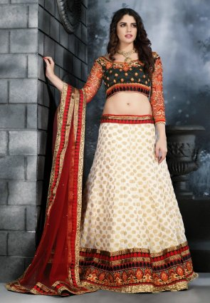 Diffusion Exotic Off White Lehenga Choli