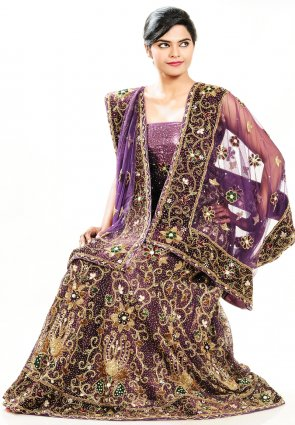 Diffusion Exquisite Bluish Purple Chaniya Choli