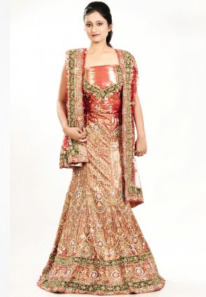 Diffusion Exquisite Coral Chaniya Choli