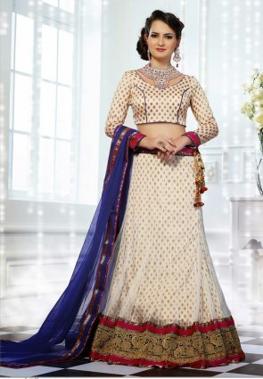 Diffusion Exquisite Off White Lehenga Choli