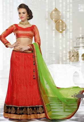 Diffusion Exquisite Red Lehenga Choli
