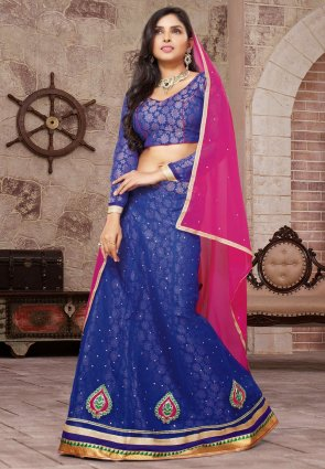 Diffusion Fancy Blue Lehenga Choli