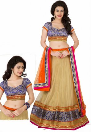 Diffusion Fascinating Brown Lehenga Choli