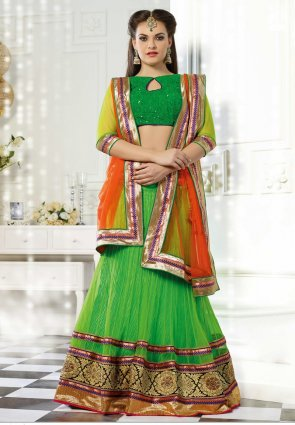 Diffusion Fascinating Coral Lehenga Choli