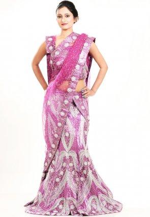 Diffusion Fascinating Pink Chaniya Choli