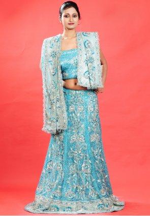 Diffusion Glamorous Teal Blue Chaniya Choli