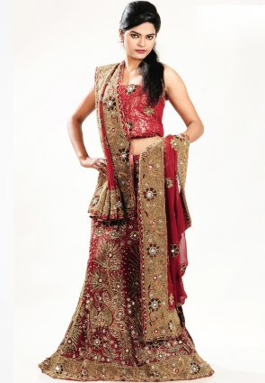 Diffusion Luscious Burgundy Chaniya Choli