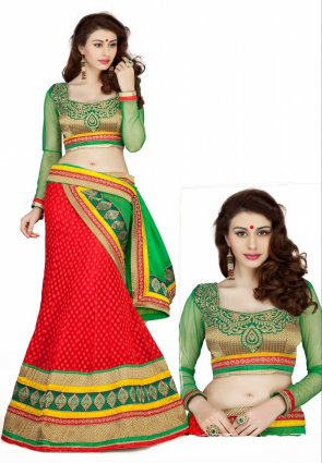 Diffusion Luscious Red Lehenga Choli
