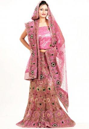 Diffusion Lush Deep Pink Chaniya Choli