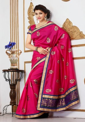Diffusion Lush Magenta Embroidered Saree