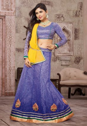 Diffusion Magnificient Bluish Purple Lehenga Choli