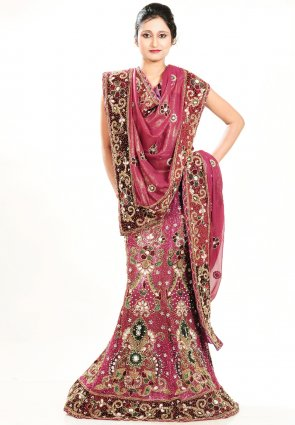 Diffusion Magnificient Fuchsia Chaniya Choli