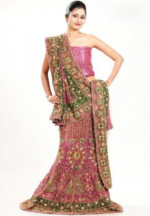 Diffusion Majesty Deep Pink Chaniya Choli
