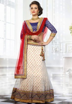Diffusion Marvelous Off White Lehenga Choli