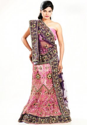 Diffusion Marvelous Rose Pink Chaniya Choli