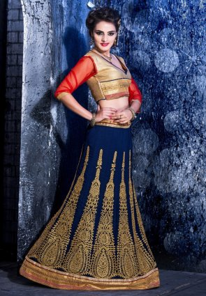 Diffusion Marvelous Royal Blue Lehenga Choli