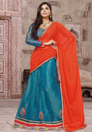 Diffusion Marvelous Teal Blue Lehenga Choli