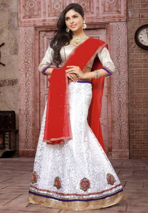 Diffusion Marvelous White Lehenga Choli