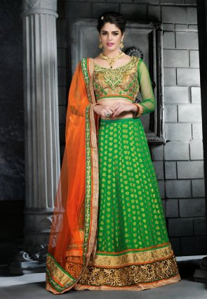 Diffusion Mesmerizing Lime Green Lehenga Choli