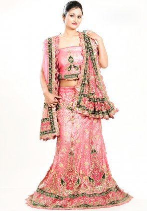 Diffusion Plushy Rose Pink Chaniya Choli