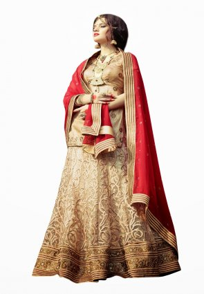 Diffusion Scintillating Cream Lehenga Choli