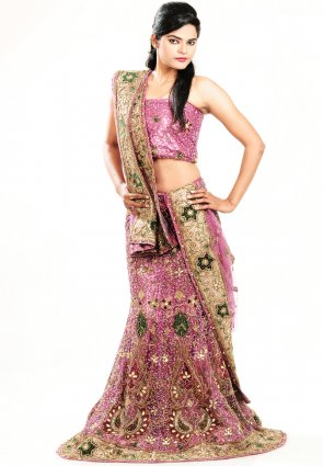 Diffusion Scintillating Deep Pink Chaniya Choli