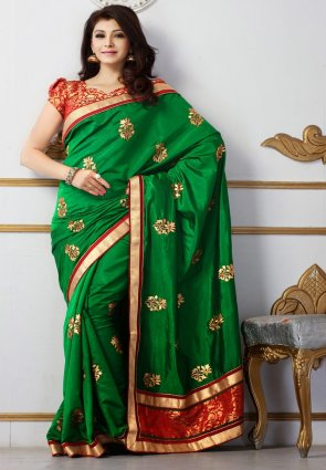 Diffusion Sparkling Green Embroidered Saree