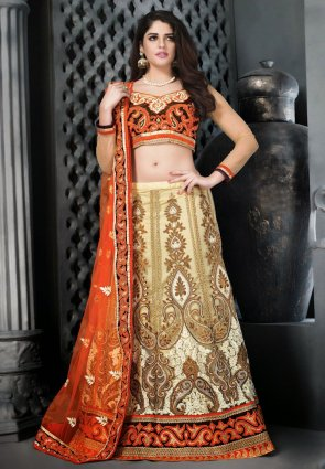 Diffusion Splendorous Cream Lehenga Choli