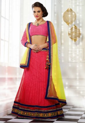 Diffusion Splendorous Red Lehenga Choli
