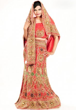 Diffusion Splendorous Red Chaniya Choli