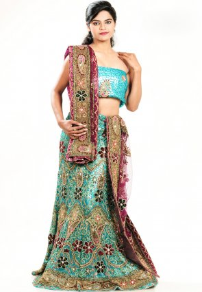 Diffusion Unique Aqua Blue Chaniya Choli
