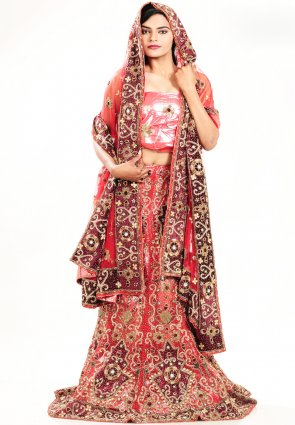 Diffusion Unique Pale Salsa Red Chaniya Choli